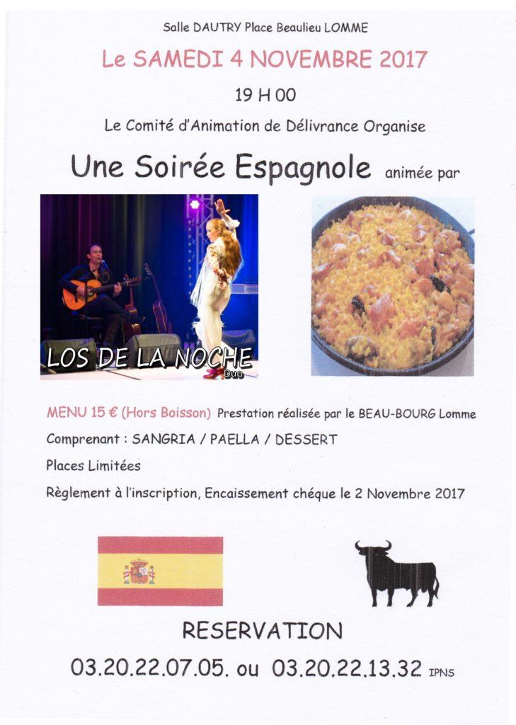 Soirée espagnole flamenco lille LOMME