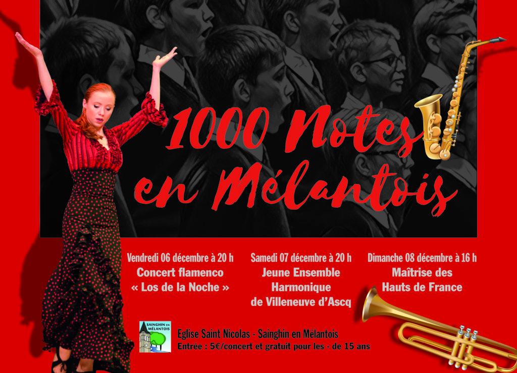 Flamenco Sainghin en mélantois 1000 notes en Mélantois Los de la Noche