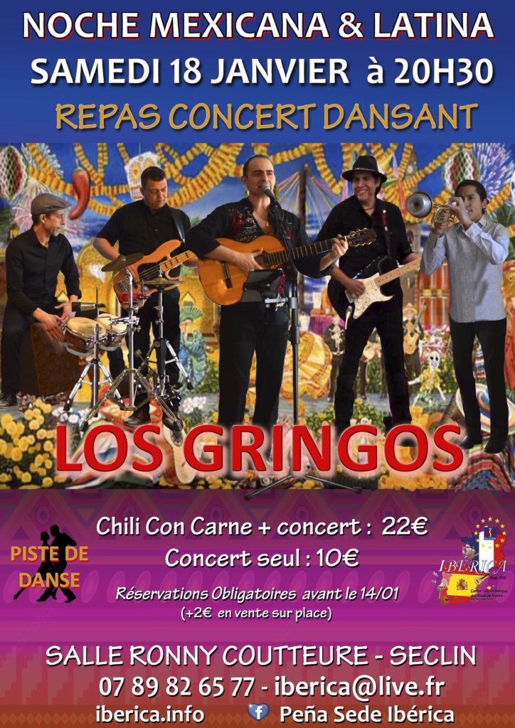 concert Danse Mexicain Latino lile Nord Hauts de France seclin Los Gringos